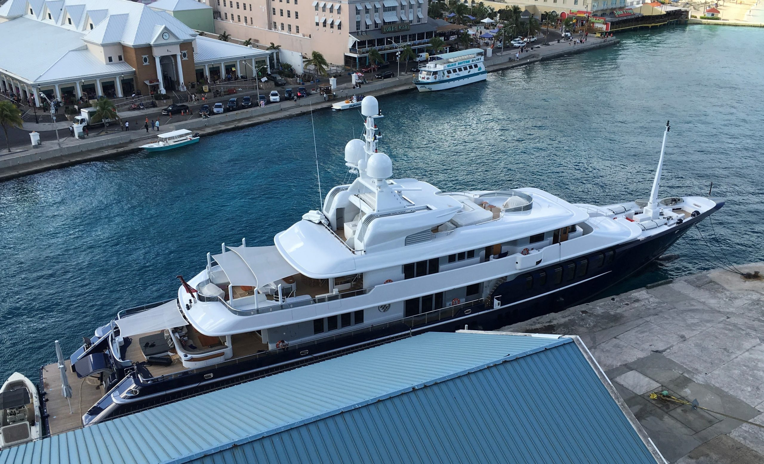 Image of a private yacht provided by Jeff Skinner of AmperageApps