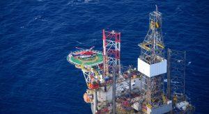 Helikopterdekk video og audio / radio samband to Scarabeo 8 drilling platform.